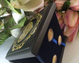 24Qirats Premium Heart Blue Mahar Box 3 coins Side