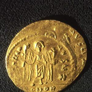 Byzantine Focas Dinar Reverse